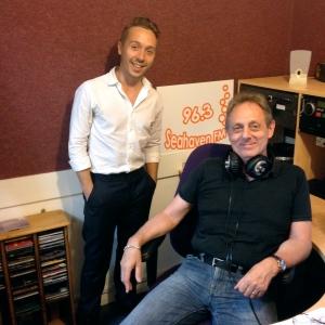 With Callum in the studio